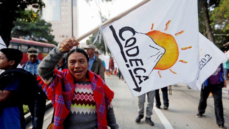 El Comité de Desarrollo Campesino (CODECA) movilizará  manifestantes desde cuatro puntos en la capital. (Foto: Hemeroteca PL)