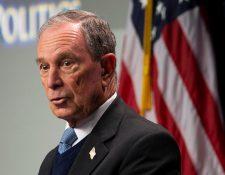 Michael Bloomberg se suma a la lista de aspirantes demócratas que luchan por ser los elegidos por sus filas. (Foto Prensa Libre: EFE)
