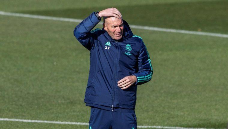 El técnico francés del Real Madrid, Zinedine Zidane. (Foto Prensa Libre: EFE)