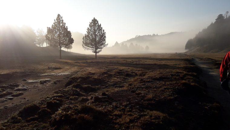 El clima durante el viaje puede varias de un momento a otro. (Foto Prensa Libre: Cortesía de Fredy Palma)