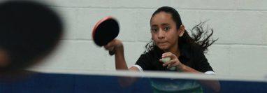 Gabriela Ruiz durante un entrenamiento en la Casa del Deportista en Zacapa. (Foto Prensa Libre: Digef).