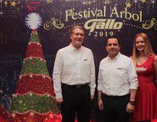 Desde hace 34 años, el Festival Árbol Gallo inaugura la temporada navideña. Foto Prensa Libre: Norvin Mendoza