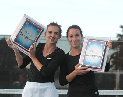 Andrea y Melissa se consagraron en el certamen internacional. (Foto Prensa Libre: Norvin Mendoza)