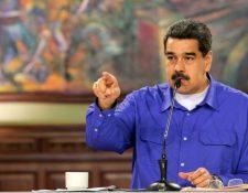 El presidente de Venezuela Nicolás Maduro arremete contra su homólogo de El Salvador Nayib Bukele. (Foto Prensa Libre: AFP)