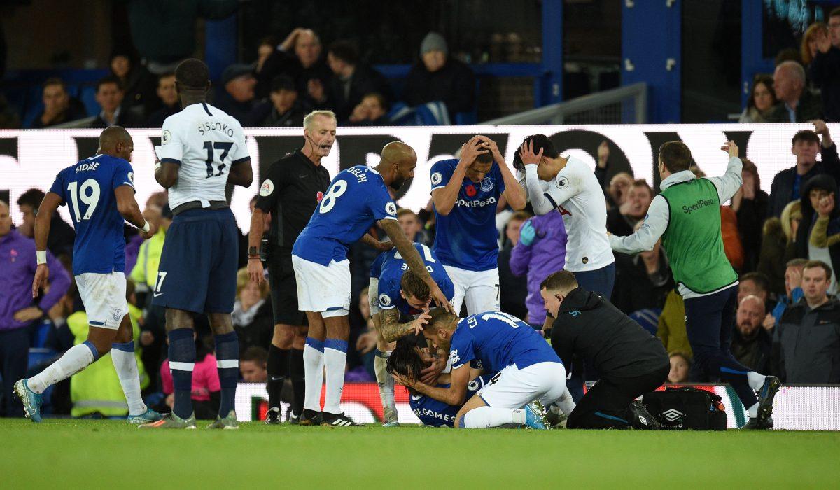 Retiran la tarjeta roja a Son pese a la grave lesión de Gomes