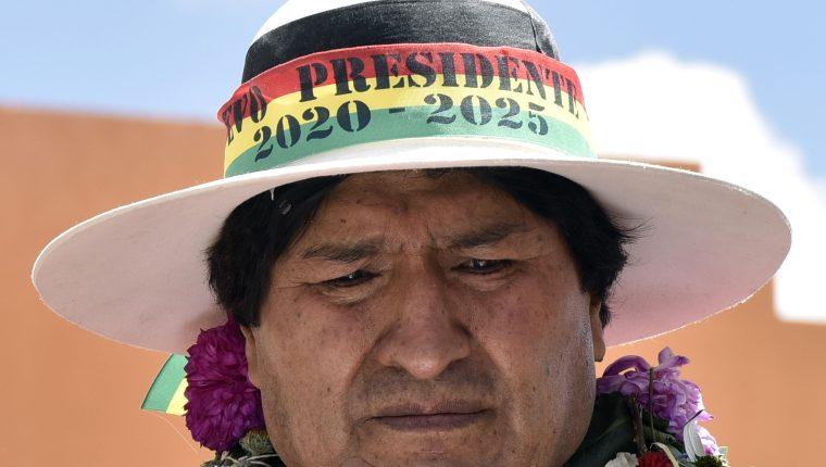 Presidente de Bolivia Evo Morales en una foto de archivo de 2017. (Foto Prensa Libre: AFP)