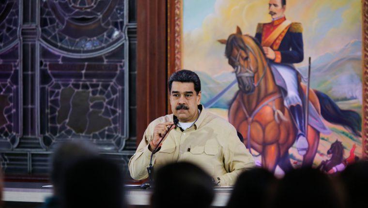 Nicolás Maduro, líder presidente de Venezuela, quien es desconocido por Estados Unidos y 50 países más. (Foto Prensa Libre: AFP/Presidencia Venezuela)