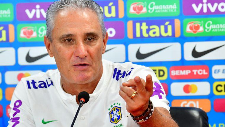 Tite, entrenador de la Selección de Brasl toma con calma las críticas por  Rodrygo. (Foto Prensa Libre: AFP)