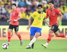 Lucas Paqueta posee la mítica 10 en la Selección de Brasil. (Foto Prensa Libre: AFP)