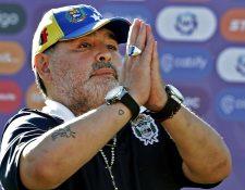 Diego Armando Maradona tuvo un paso breve por Gimnasia. (Foto Prensa Libre: AFP)