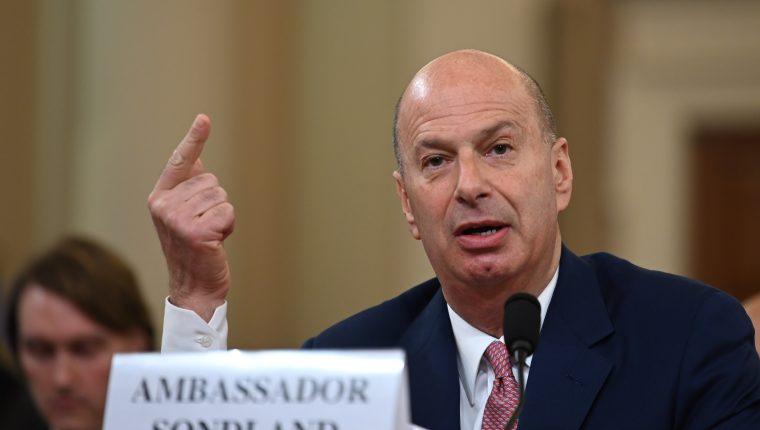 El embajador de Estados Unidos ante la Unión Europea, Gordon Sondland. (Foto Prensa Libre: AFP)