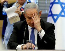 El primer ministro israelí, Benjamin Netanyahu, será procesado por corrupción. (Foto Prensa Libre: AFP)