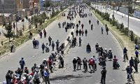 EDITORS NOTE: Graphic content / View of a road blocked by supporters of Bolivia's President Evo Morales outside the Senkata fuel plant in El Alto, on November 20, 2019. - The number of people killed in clashes with Bolivian security forces at a fuel plant near La Paz has risen to eight, an official said Wednesday, a day after the violent confrontations. That takes to 32 the death toll from  unrest that has rocked the Andean country since the October 20 presidential election. (Photo by AIZAR RALDES / AFP)