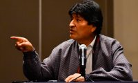 """(FILES) In this file photo taken on November 20, 2019 Bolivia's ex-President Evo Morales delivers a press conference in Mexico City. - The United States on November 21, 2019 suggested that Bolivia's former president Evo Morales should stay out in upcoming elections, which Washington said should be """"free, fair and transparent.""""Secretary of State Mike Pompeo promised US support for the transitional government, which took office after veteran leftist Morales quit amid an uproar over the conduct of October 20 elections. (Photo by PEDRO PARDO / AFP)"""
