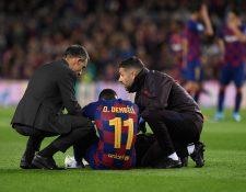 Ousmane Dembélé ha presentado mejoría y está de vuelta, después de una lesión. (Foto Prensa Libre: AFP)