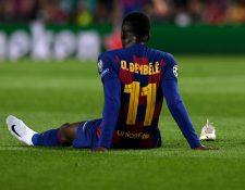 El delantero francés Ousmane Dembélé ha tenido una mala temporada llena de lesiones. (Foto Prensa Libre: AFP)
