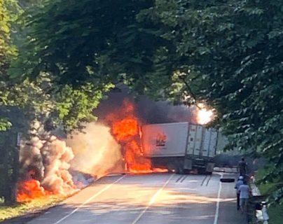 El accidente ocurrió en el km 189 de la ruta al Atlántico, Gualán, Zacapa. (Foto HemerotecaPL)