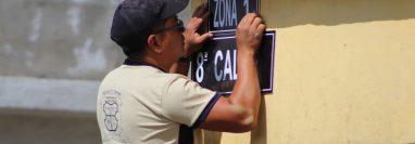 Más de cuatro mil 600 casas contarán con nomenclatura, en San Juan Alotenango, Sacatepéquez. (Foto Prensa Libre: Cortesía)