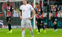 Bayern Munich's Polish forward Robert Lewandowski reacts after his team lost 5-1 in the German first division Bundesliga football match between Eintracht Frankfurt and FC Bayern Munich on November 2, 2019 in Frankfurt am Main, western Germany. (Photo by Daniel ROLAND / AFP) / DFL REGULATIONS PROHIBIT ANY USE OF PHOTOGRAPHS AS IMAGE SEQUENCES AND/OR QUASI-VIDEO