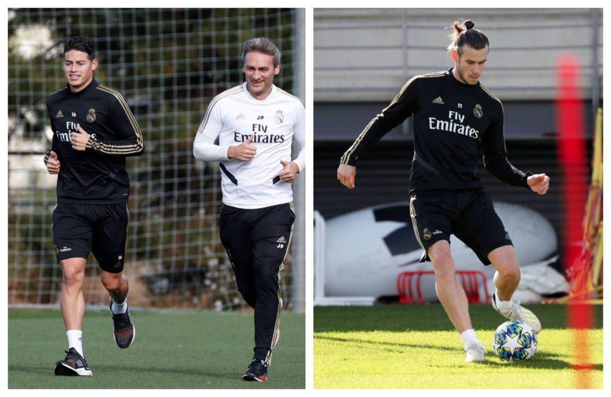 James y Bale hacen trabajo de campo pero no jugarán contra el Galatasaray