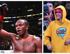 KSI y Justin Bieber podrían enfrentarse en el ring. (Foto Prensa Libre: AFP)