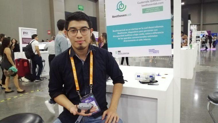 Jorge De Paz fue el único emprendedor guatemalteco que participó en el festival INCmty en Monterrey. (Foto Prensa Libre: Natiana Gándara)