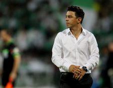 El entrenador de River Plate Marcelo Gallardo podría dar un salto en su carrera y llegar al Barcelona. (Foto Prensa Libre: EFE)