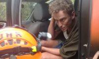 Maximilian Nagl estuvo extraviado tres días en el Volcán de Fuego. (Foto Prensa Libre: Conred).