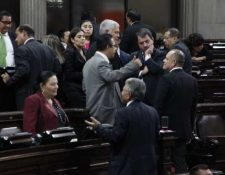 Diputados durante la sesión plenaria del 12 de noviembre. (Foto Prensa Libre: Noé Medina)