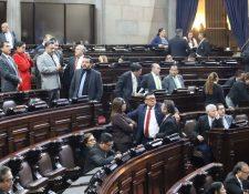 Los diputados lograron 80 votos para conocer el presupuesto en tercera lectura, pero no consiguieron la misma cantidad para aprobarlo. (Foto Prensa Libre: Congreso)