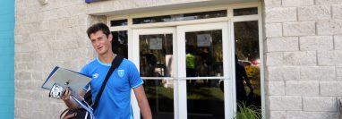 Nicholas Hagen sería el guardameta titular frente a Antigua y Barbuda. (Foto Prensa Libre: Jeniffer Gómez)