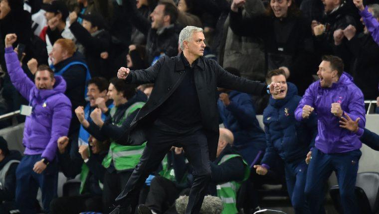 José Mourinho festejó con el Tottenham en la Champions League. (Foto Prensa Libre: AFP)