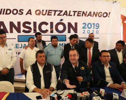 El presidente electo, Alejandro Giammatei dio a conocer que su gobierno trabajará desde Quetzaltenango durante cinco días. (Foto Prensa Libre: María Longo)