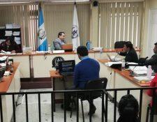 Luis Enrique Mendoza García por medio de videoconferencia brinda su declaración en el Juzgado de Mayor Riesgo C. (Foto Prensa Libre: Cortesía)
