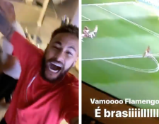 Neymar siguió de cerca la final de la Copa Libertadores de América entre el River Plate y el Flamengo. (Foto Prensa Libre: Instagram NeymarJr)