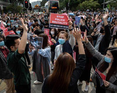 Hong Kong lleva meses sumido en protestas. (Foto Prensa Libre: AFP)