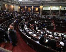 Debido a las interpelaciones la agenda del Congreso estuvo entrampada. (Foto Prensa Libre: Hemeroteca PL)