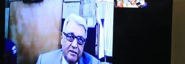 Luis Enrique Mendoza García comparece en audiencia por medio de videoconferencia en caso Genocidio. (Foto Prensa Libre: (Juan Diego González)
