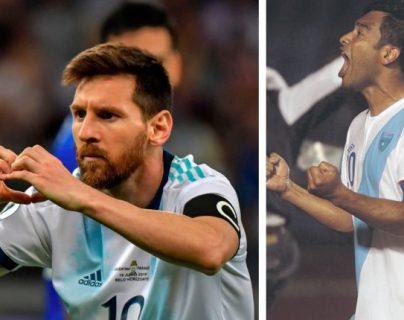 Liones Messi es el máximo artillero de Argentina y Carlos Ruiz el de Guatemala. (Foto Prensa Libre: Hemeroteca PL)