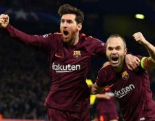 Lionel Messi y Andrés Iniesta, durante la época en que ambos jugaban en el FC Barcelona. (Foto Prensa Libre: Hemeroteca PL)