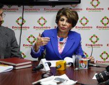 Nineth Montenegro promotora de la Ley de Comisiones de Postulación reflexiona sobre las posibles reformas. (Foto Prensa Libre: Noe Medina)