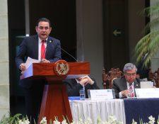 El presidente Jimmy Morales tiene el derecho constitucional de vetar una ley y devolverla al Congreso. (Foto Prensa Libre: Erick Ávila)
