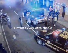 La PNC logró capturar a la persona que realizó los disparos en los alrededores del Hospital San Juan de Dios. (Foto Prensa Libre: Amilcar Montejo)