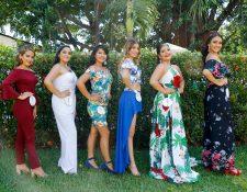 Presentan a las seis aspirantes a Reina de la Feria de Retalhuleu. (Foto Prensa Libre: Rolando Miranda)