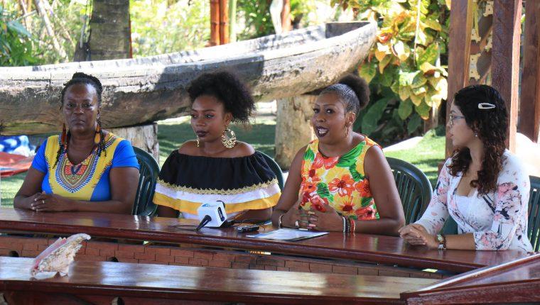 Los organizadores anunciaron el evento Reina Garífuna del Caribe en Puerto Barrios, Izabal. (Foto Prensa Libre: Dony Stewart)