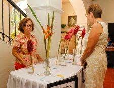 La exposición de flores y plantas se llevó a cabo en el Museo de Arqueología y Etnología Horacio Lejos León de Retalhuleu (Foto Prensa Libre: Rolando Miranda)