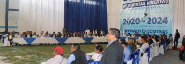Alejandro Giammattei se reúne con alcaldes electos y bases del partido Vamos en Quiché, (Foto Prensa Libre: Héctor Cordero)
