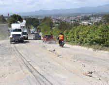 Carretera a San Pedro Jocopilas, Quiché está en malas condiciones desde hace seis años.(Foto Prensa Libre: Héctor Cordero)