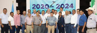 El próximo jefe del Ejecutivo, Alejandro Giammattei, visitó Suchitepéquez. (Foto Prensa Libre: Marvin Tunchez)