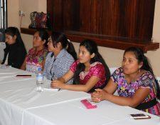 Organizaciones de mujeres expresaron su preocupación por el aumento de casos de violencia contra la mujer en Quiché. (Foto Prensa Libre: Héctor Cordero)